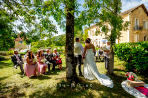 Wedding in the garden at Le Seguinet