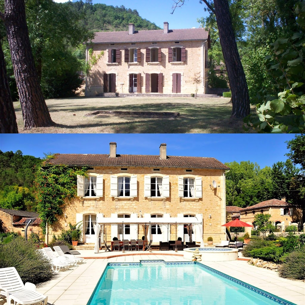 Before and after of the Manoir